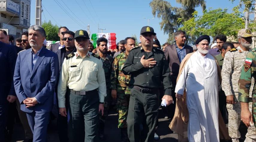 ايران... تشييع جثمان شهيدي إعتداء جابهار الارهابي