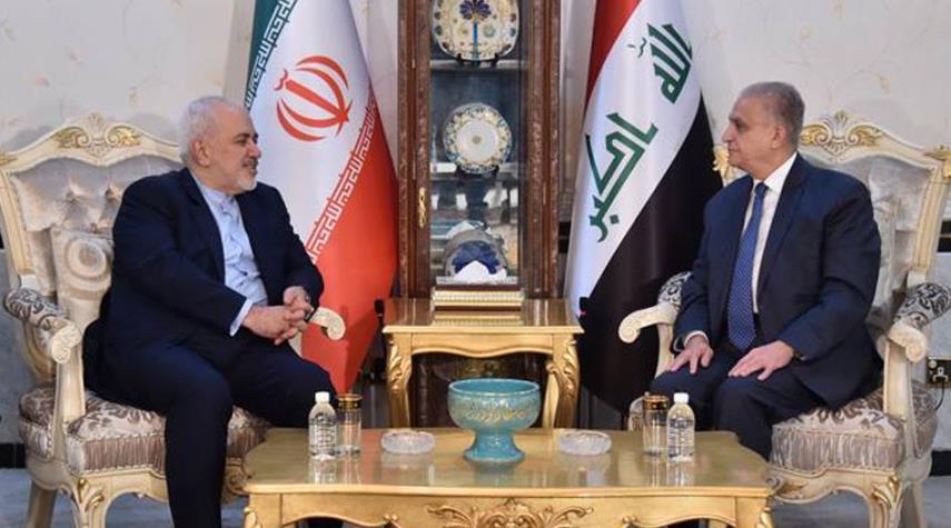ظريف يبحث مع نظيره العراقي العلاقات الثنائية والقضايا ذات الاهتمام المشترك