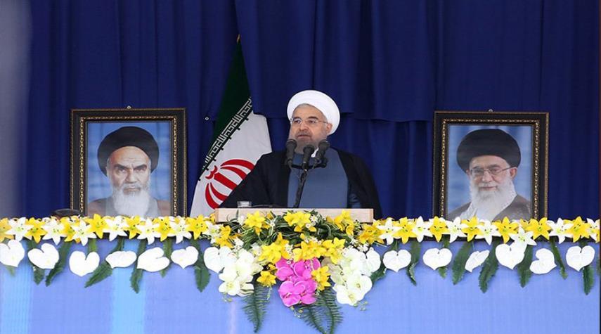 الرئيس روحاني يؤكد ان ايران الثورة تقف الى جانب الشعوب