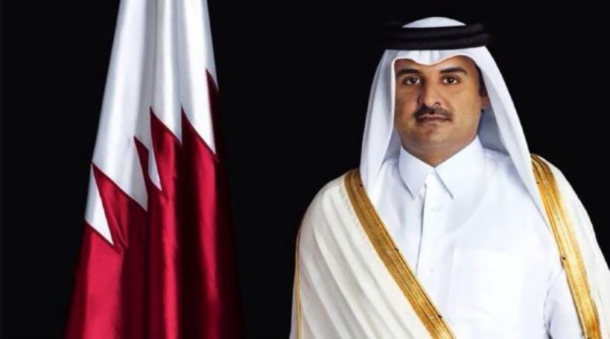 امير قطر يهنئ الرئيس الايراني بذكرى انتصار الثورة