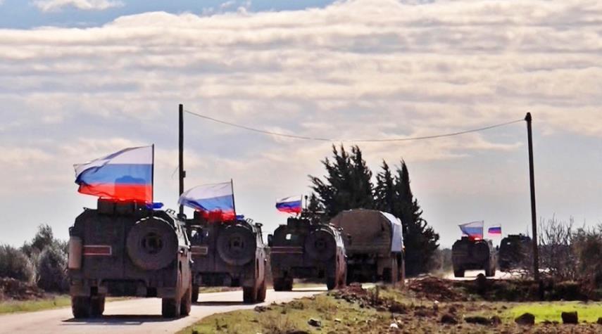 دورية روسية تركية في تل رفعت شمال سوريا
