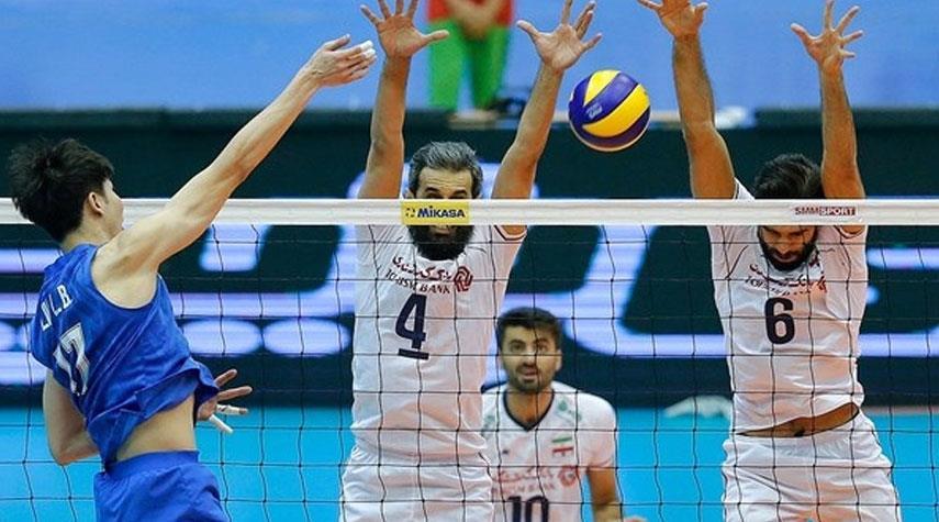 بالصور .. ايران تفوز على الصين في بطولة آسيا للكرة الطائرة