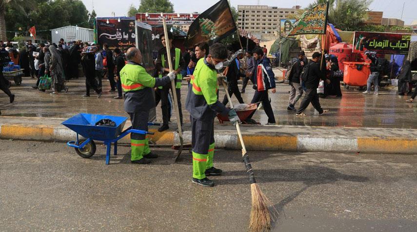 بلدية طهران ترسل كوادر لتقديم الخدمات لزوار الاربعين