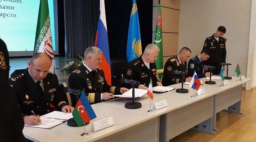 توقيع مذكرة للتعاون العسكري بين الدول المطلة على بحر قزوين