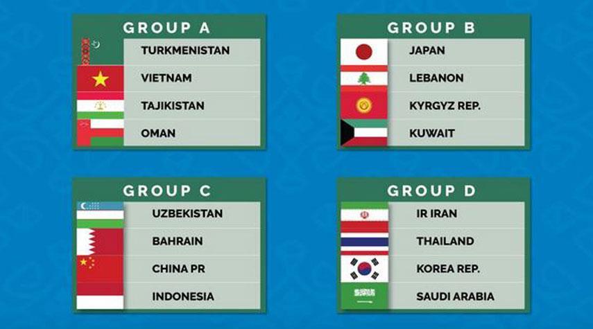 ايران ضمن المجموعة الرابعة في كأس آسيا لكرة الصالات