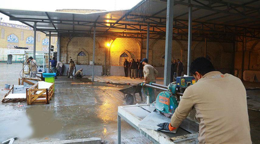 توسعة مرقد الامامين الكاظمين (ع) في شمال بغداد