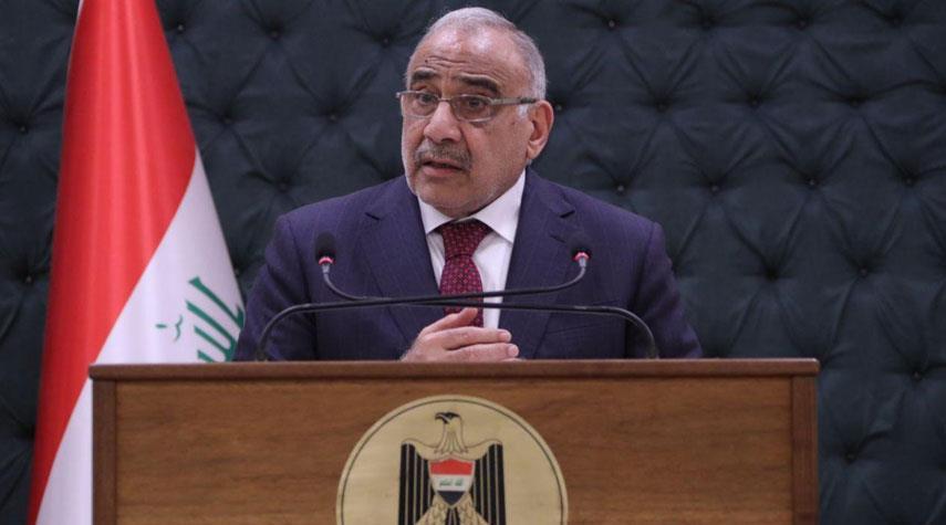 عبد المهدي يستنكر ادراج شخصيات عراقية بقوائم عقوبات