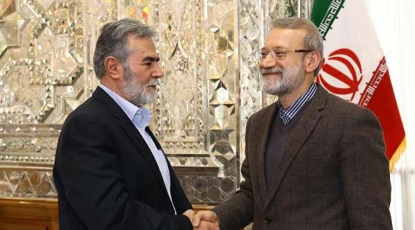 لاريجاني يؤكد موقف إيران الداعم للشعب الفلسطيني ومقاومته