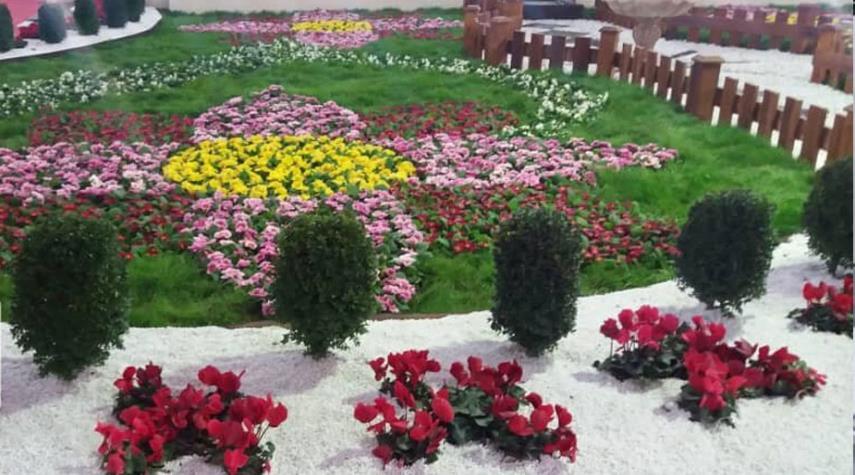 معرض الزهور في مدينة بابل الايرانية