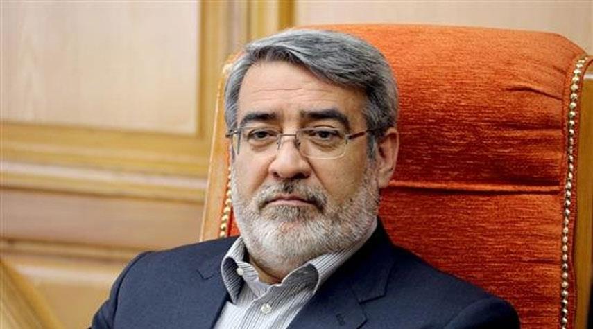 """وزير الداخلية الايراني يؤكد استمرار """"التباعد الاجتماعي"""" لغاية انتاج دواء لكورونا"""