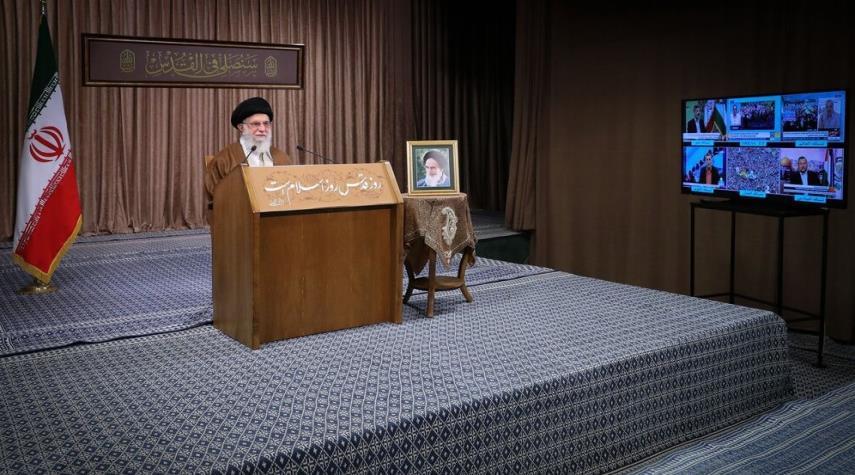 بالصور.. خطاب قائد الثورة الاسلامية في يوم القدس العالمي