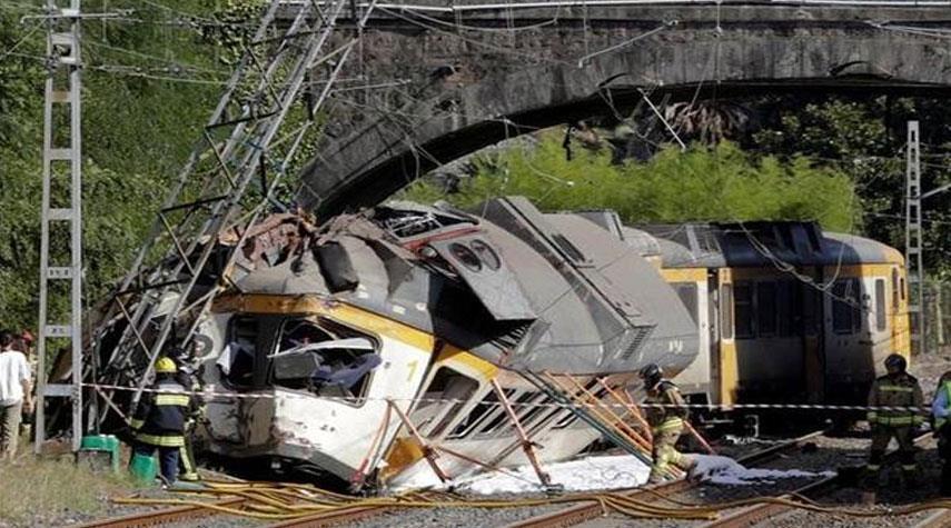 حادث قطار سريع في البرتغال وسقوط قتيل وعشرات الجرحى
