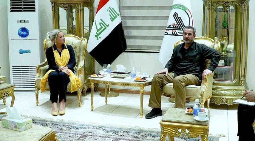 العراق... رئيس أركان الحشد وبلاسخارت يبحثان الوضع الامني