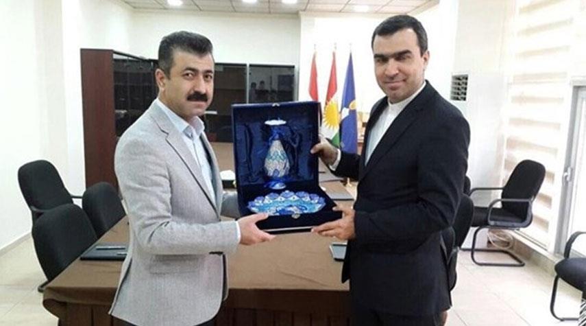 بحث مشاركة شركات ايرانية في تنفيذ مشاريع انمائية في كردستان العراق