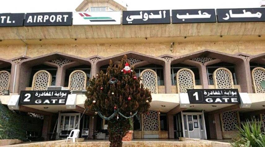 سوريا.. مطار حلب يستقبل أول طائرة من بيروت+صور