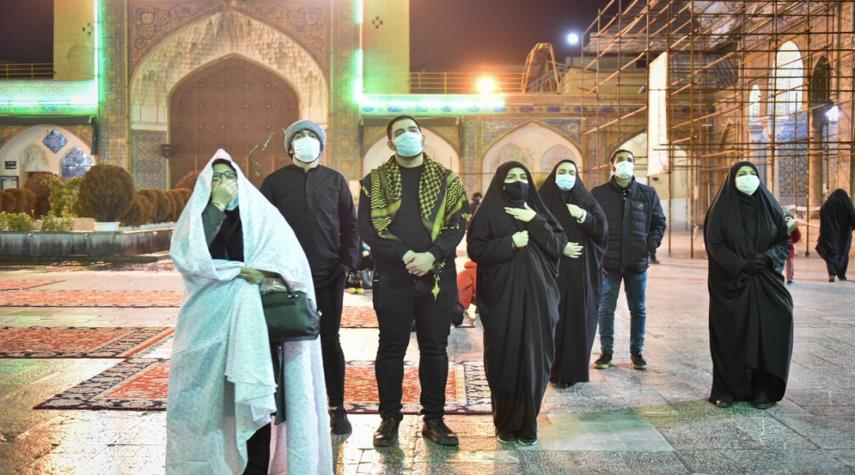 بالصور.. مرقد عبدالعظيم الحسني في ليلة استشهاد السيدة زهراء