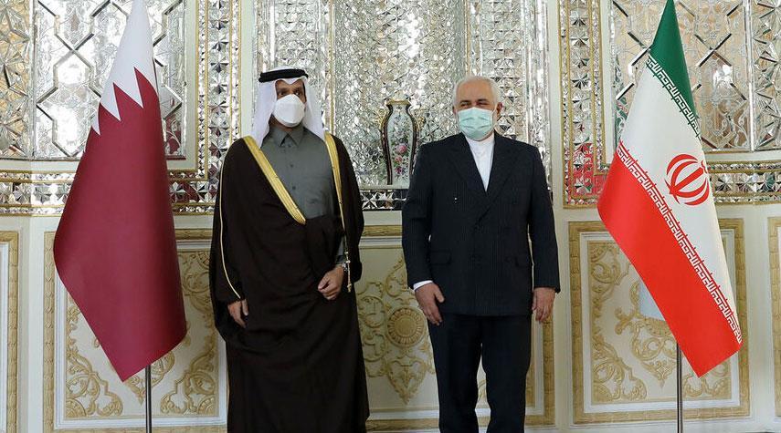 وزير الخارجية الايراني يلتقي نظيره القطري في طهران