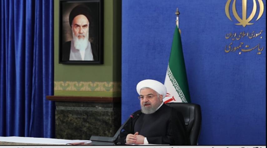 الرئيس روحاني يدعو لمضاعفة الجهود لمنع الموجة الرابعة من كورونا