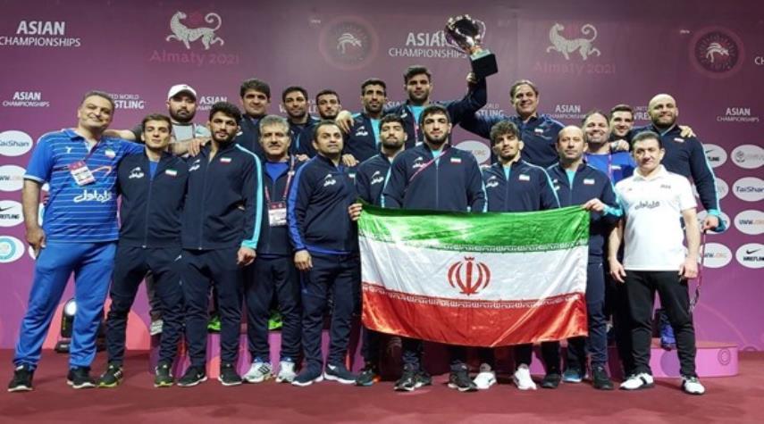 ايران تتوج بلقب بطولة اسيا للمصارعة الحرة