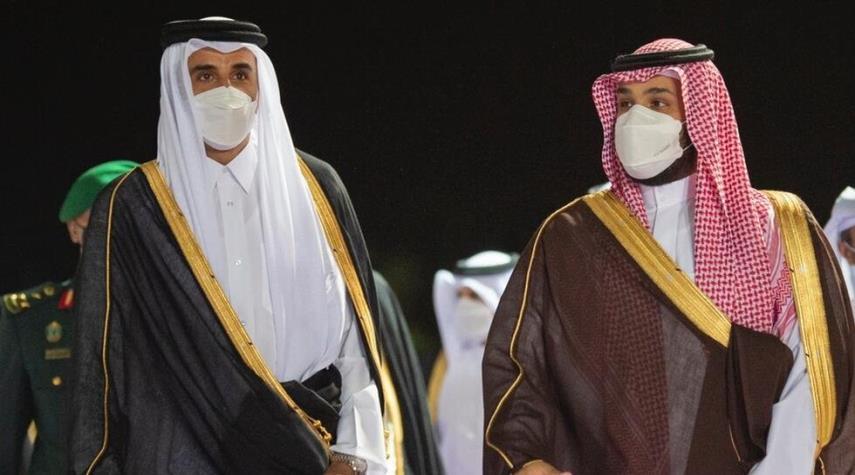 ولي العهد السعودي يستقبل امير قطر في الرياض