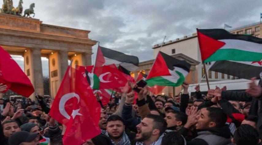مظاهرات مناصرة للفلسطينيين في باريس ولندن وأنقرة