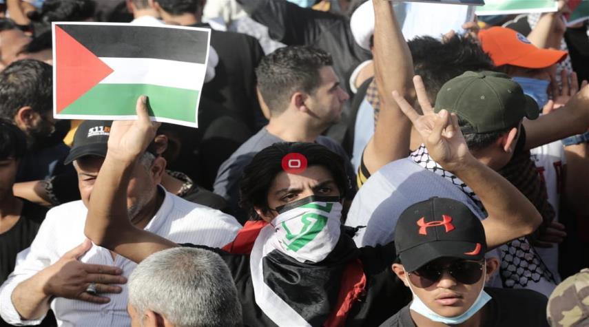 شاهد .. العراقيون يتضامنون مع الشعب الفلسطيني
