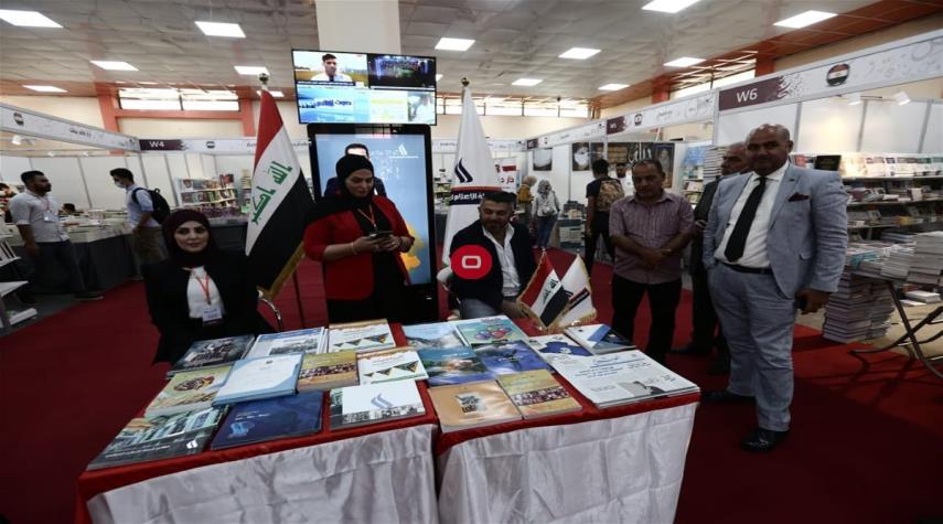 بالصور.. معرض بغداد الدولي للكتاب بعد افتتاحه اليوم