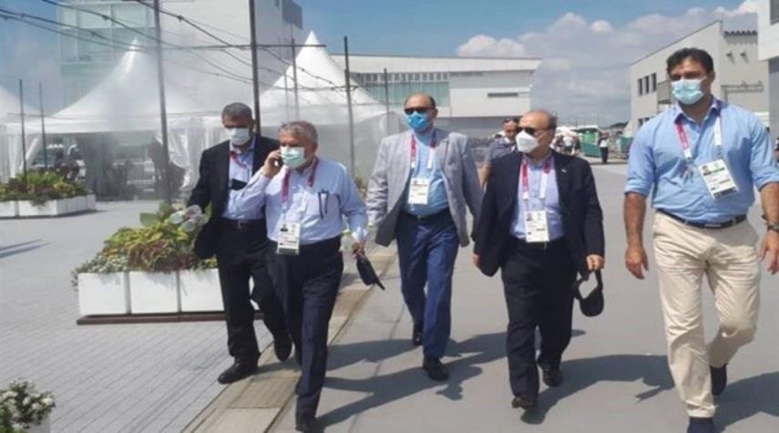 وزير الرياضة الايراني يغادر طوكيو عائدا الى البلاد
